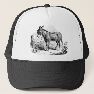 Vintage Domestic Donkey Personalized Retro Donkeys Trucker Hat