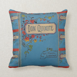 Vintage Don Quixote Book Cover Throw Pillow