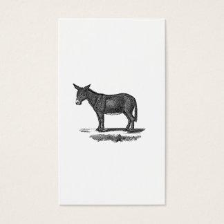 Vintage Donkey Illustration -1800's Donkeys Business Card