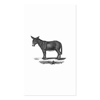 Vintage Donkey Illustration -1800's Donkeys Business Card Template