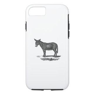 Vintage Donkey Illustration -1800's Donkeys iPhone 7 Case