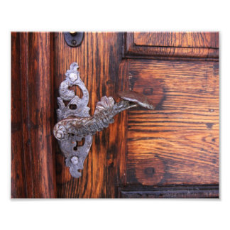Vintage Door Handle, Aged Wood Real Estate Art Photo