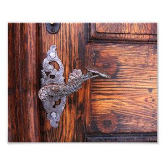 Vintage Door Handle, Aged Wood Real Estate Photo Print