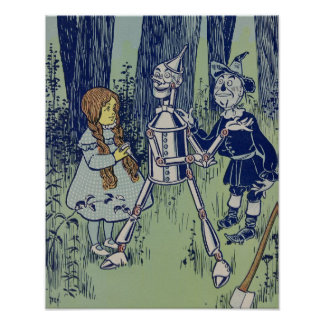 Vintage Dorothy, Tinman, and Scarecrow Poster