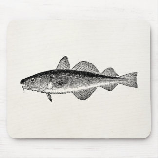 Vintage Dorse Fish - Marine Fishes Template Blank Mouse Mat
