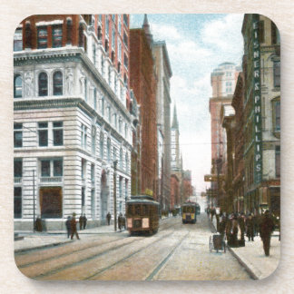 Vintage Downtown Pittsburgh Coaster