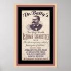 Vintage Dr. Batty's Cigarette Ad Poster