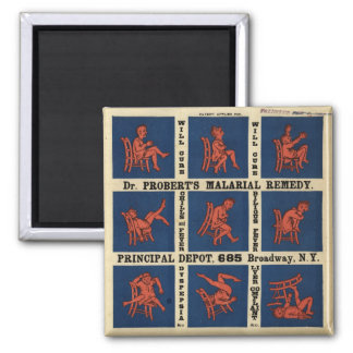 Vintage Dr. Roberts Malaria Remedy Square Magnet