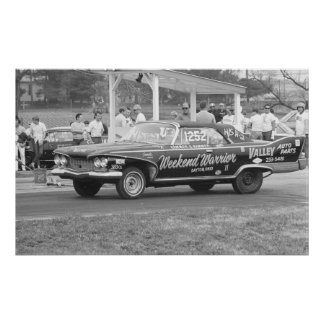 Vintage Drag Racing - 1960 Plymouth Fury Poster