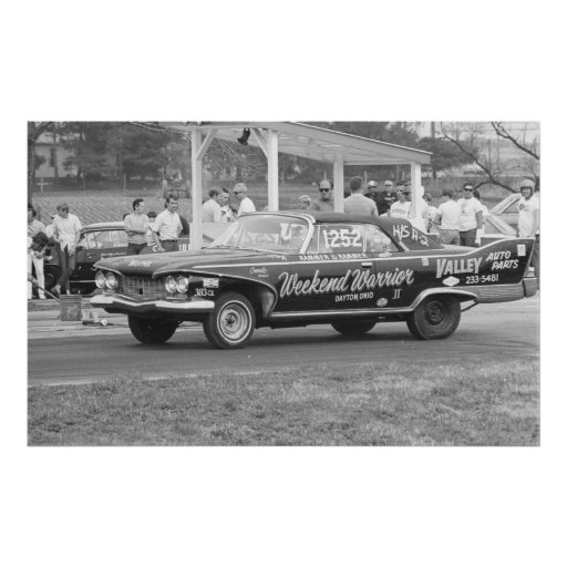 Vintage Drag Racing - 1960 Plymouth Fury Print : Zazzle