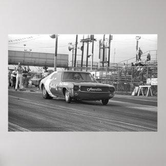 Vintage Drag Racing - 1969 Javelin1 Funny Car Poster