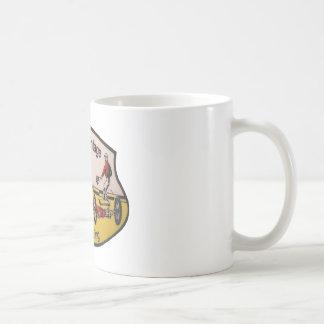 Vintage Drag Racing Basic White Mug