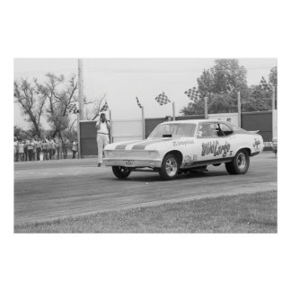 "Vintage Drag - ""Wild Cargo"" Chevy Nova Funny car Poster"