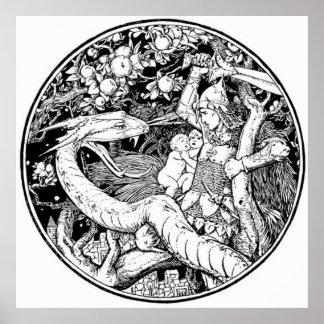 Vintage - Dragon Attack Poster