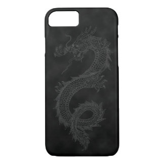 Vintage Dragon Black Smoke iPhone 7 Case
