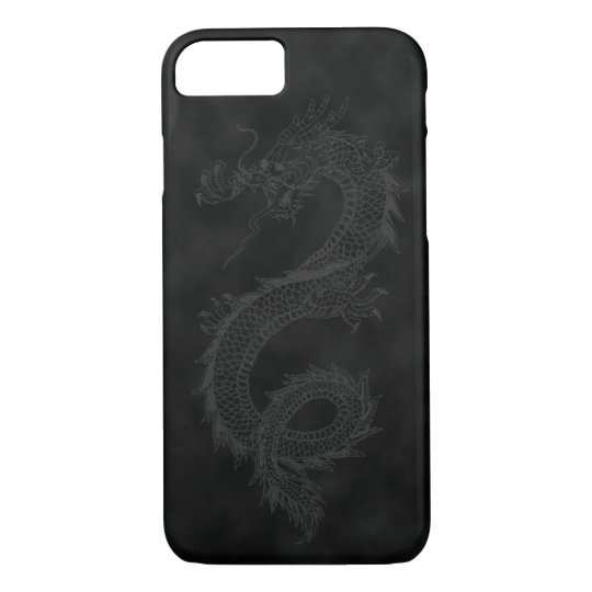 Vintage Dragon Black Smoke iPhone 7 Case