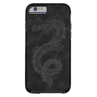 Vintage Dragon Black Smoke Tough iPhone 6 Case