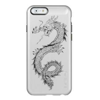 Vintage Dragon Brushed Metal Incipio Feather® Shine iPhone 6 Case