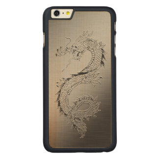 Vintage Dragon Carved Maple iPhone 6 Plus Case