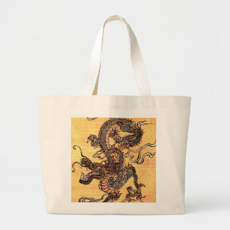Vintage Dragon Tapestry Tote Bag