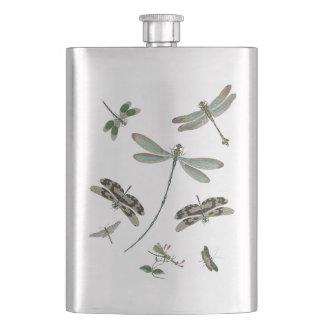 Vintage Dragonflies Hip Flask