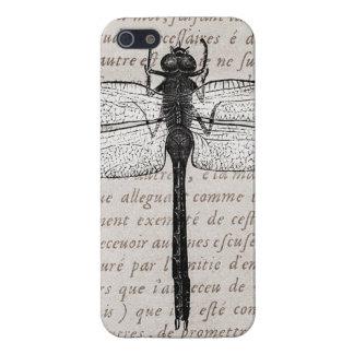 Vintage Dragonfly and Antique Text Collage iPhone 5/5S Case