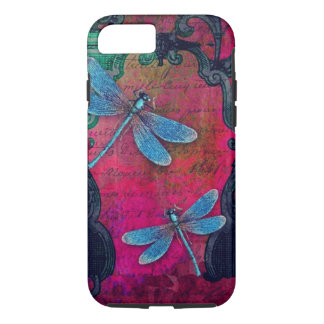 Vintage Dragonfly Collage French Script Decorative iPhone 8/7 Case