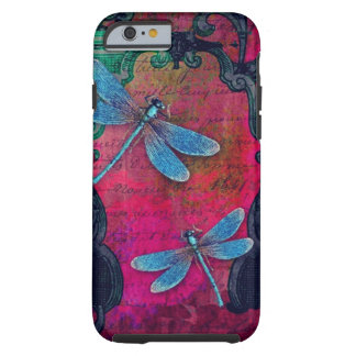 Vintage Dragonfly Collage French Script Decorative Tough iPhone 6 Case