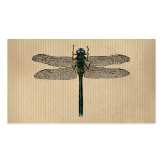Vintage Dragonfly Illustration Business Cards