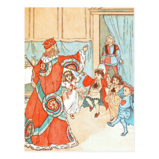 Vintage DRawing: Children of the King Postcard