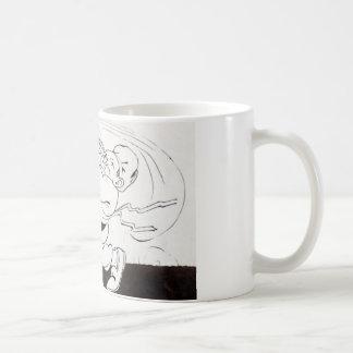 vintage drawing fat waiter coffee mug