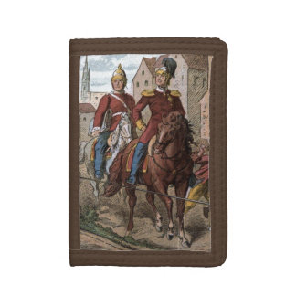 Vintage Drawing: Redcoat Soldiers Trifold Wallet