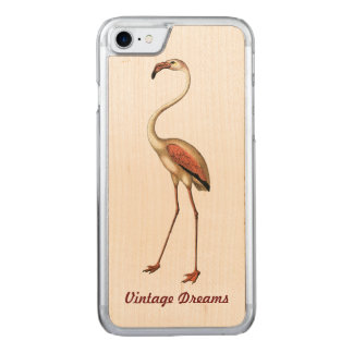 """Vintage Dreams"" - Flamingo Carved iPhone 7 Case"