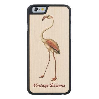 """Vintage Dreams"" - Flamingo Carved® Maple iPhone 6 Slim Case"