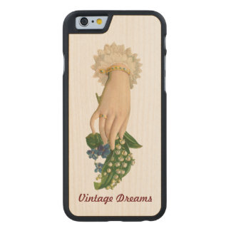 """"""" Vintage Dreams"""" - Lady Lily Carved® Maple iPhone 6 Slim Case"""