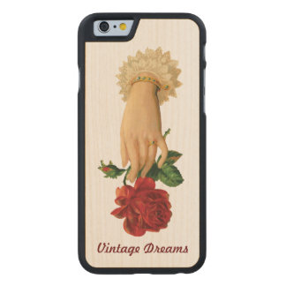 """Vintage Dreams"" - Lady Ring & Rose Carved® Maple iPhone 6 Slim Case"