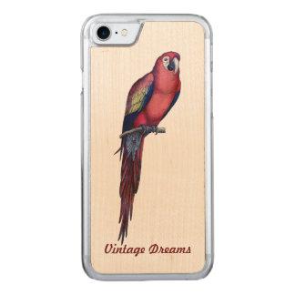 """Vintage Dreams"" - Mr. Macaw Carved iPhone 8/7 Case"