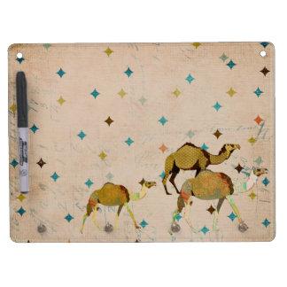 Vintage Dreamy Camel Dry Erase Board