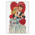 Vintage Dreamy Formal Dance Valentine's Day Card