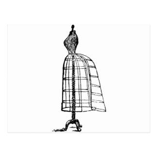 Vintage Dress Form Postcard