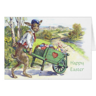 Vintage Dressed Easter Rabbit Easter Card