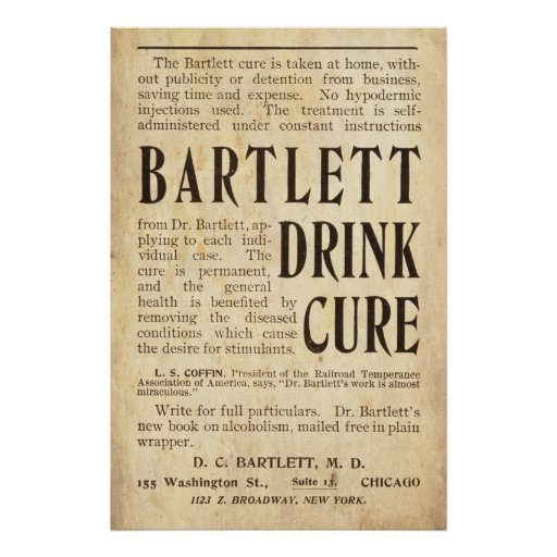 Vintage Drink Cure Ad from 1899 Print