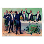 Vintage Drinking St Patrick's Day Card