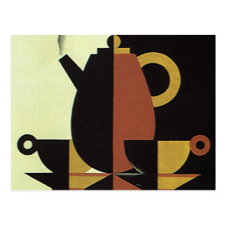 Vintage Drinks Beverages Coffee Pot with Cups Postcards