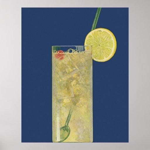 Vintage Drinks Beverages Lemonade or Fruit Soda Print