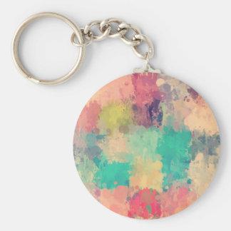 Vintage drip paint art by healinglove keychain