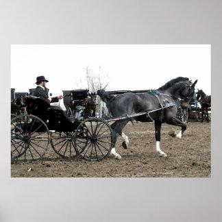 Vintage Driving Horse Print