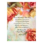 Vintage dry roses wedding personalised invite