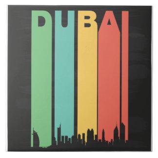Vintage Dubai Cityscape Large Square Tile