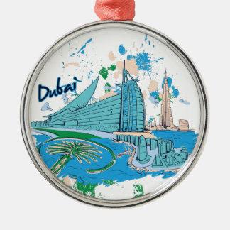 vintage dubai us e design Silver-Colored round decoration